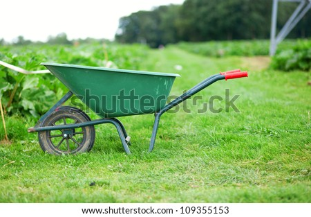 Handcart on a farm