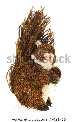 handcraft squirrel animal isolated over white background