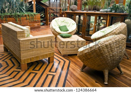 Handcrafted Furniture Typical Of A House In Bamboo