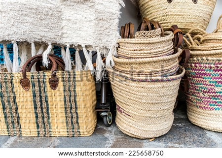 Handcrafts at Pampaneira, La Alpujarra, Andalusia, Spain - stock photo