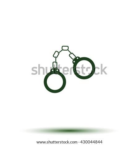 Handcuffs icon. - stock photo