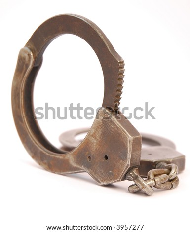 Handcuffs on a white background