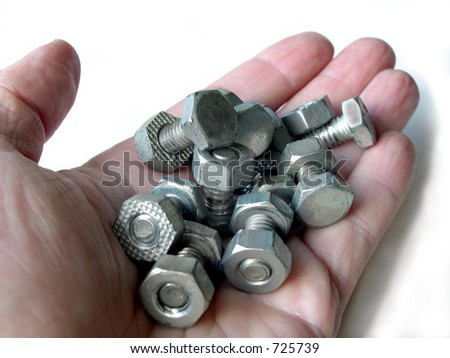 Handful of nuts and bolts