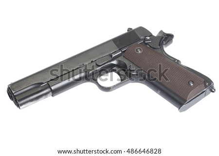 handgun government M1911 isolated
