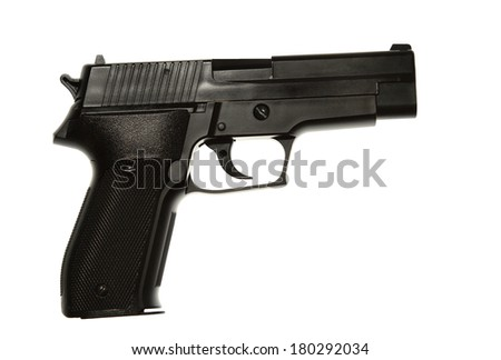 Handgun isolated on plain background
