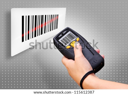 Handheld Computer for wireless barcode scanning identification