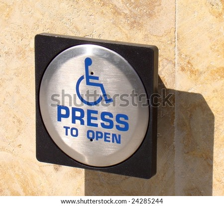 handicap entrance sign stock photo download now 24285244