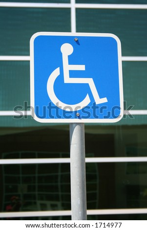 handicap sign - stock photo