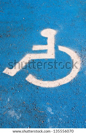 handicapped parking signal - stock photo
