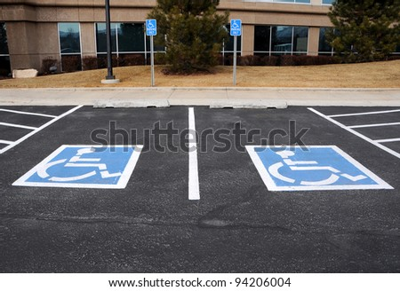 Handicapped Parking Spaces at Office Building