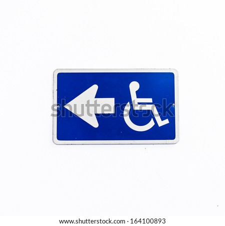 handicapped sign with wheelchair