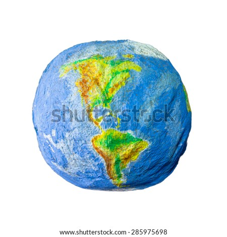 Handicraft Earth Globe