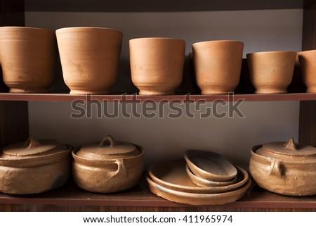 Handicraft Pottery - stock photo