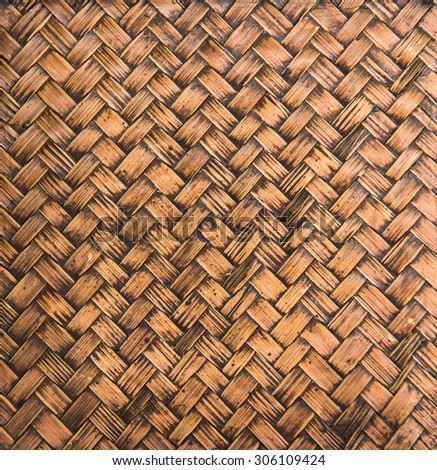 handicraft rattan texture weave by wicker material for making furniture,thailand - stock photo