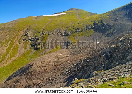 Handies Peak, San Juan Range, Rocky Mountains, Colorado  - stock photo