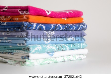 handkerchiefs colorful white background
