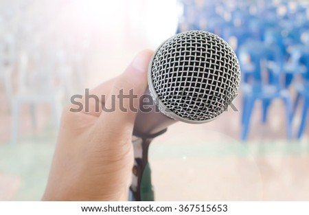 Handle microphone in meeting room backgrounds