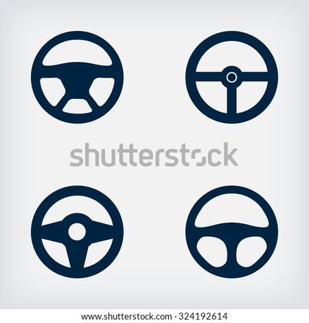 handlebars automotive icons - illustration. - stock photo