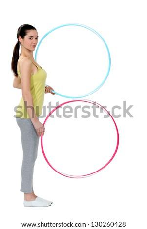 Handling the hoop. - stock photo