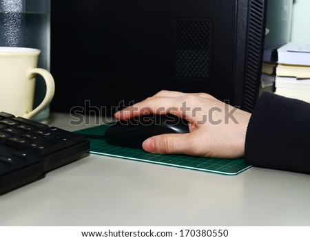 Handling the mouse - stock photo