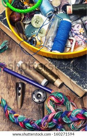 handmade and instruments of repairman clothing