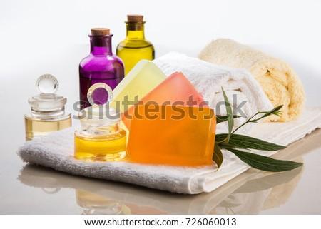 Handmade Ayurvedic Soap Bath Spa Accessories Stock Photo 726060013 ...