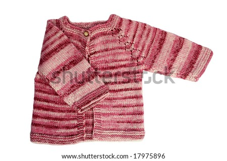 Handmade baby cardigan made from wool