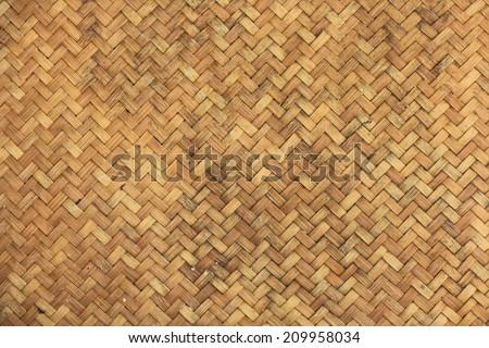 Handmade Bamboo Woven Texture. - stock photo