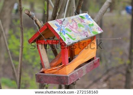 Handmade birdhouse - stock photo