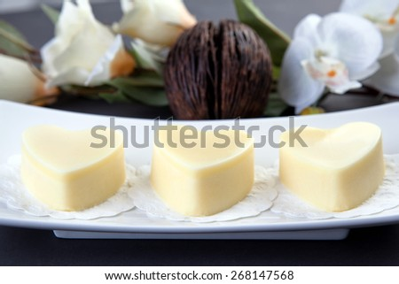 Handmade body butter pieces - stock photo