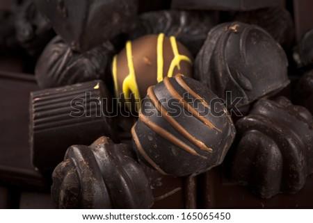 Handmade chocolate - stock photo