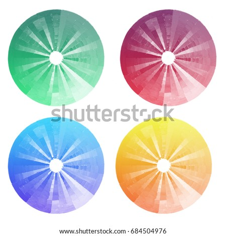 Handmade Color Wheel Watercolor IllustrationWatercolor Primary Secondary And Tertiary