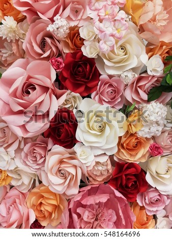 Handmade colorful paper flowers background stock photo royalty free handmade colorful paper flowers background mightylinksfo