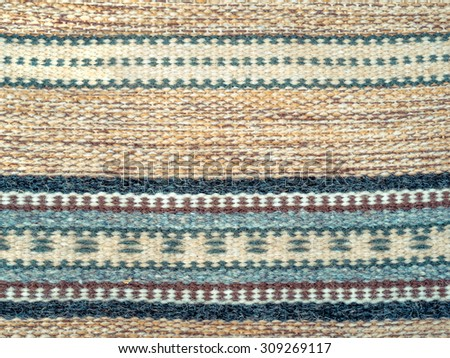 handmade home textile background of carpet in pastel colors tapestry with decorative pattern and carpet pattern background home