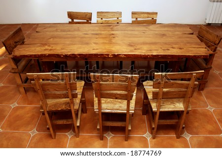 handmade kitchen tables northern ireland stock photo large table bespoke and chairs