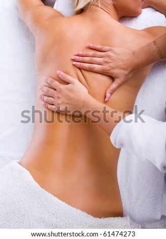 Handmade massage to young lady