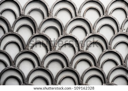 handmade metal old background - stock photo
