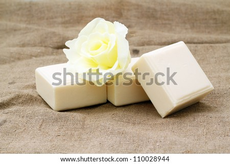 Handmade natural soap - stock photo