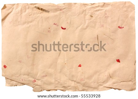 Handmade paper - stock photo