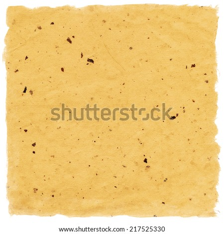 Handmade Paper isolated on white - stock photo