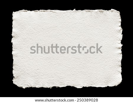 handmade paper on black isolated - stock photo