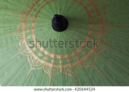 handmade paper umbrella, Bo Sang, Chiang Mai, Thailand - stock photo