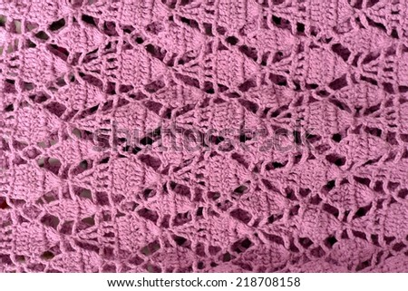Handmade pink knitting wool texture background