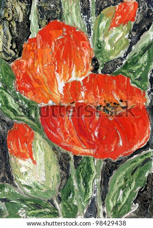 Handmade: poppies