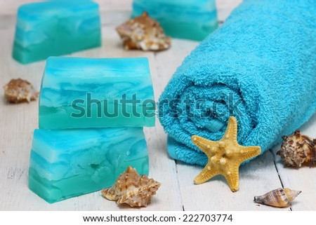 Handmade soap - stock photo