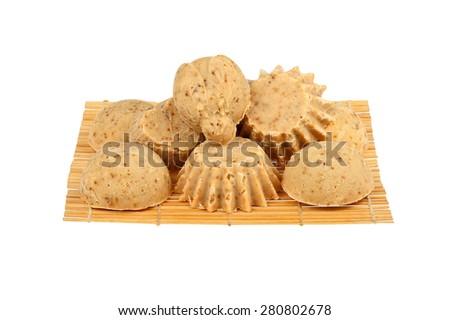 Handmade soap isolated on white background - stock photo