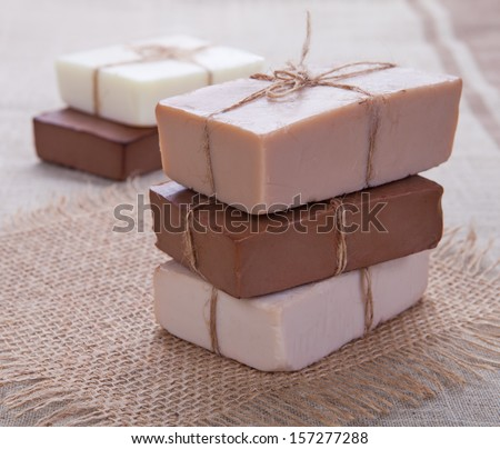 Handmade Soap. Spa products  - stock photo