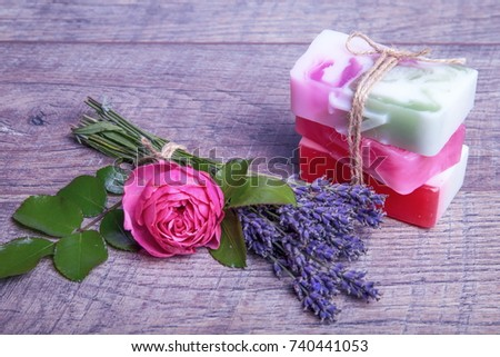 Handmade Soap Bath Spa Accessories Dried Stock Photo (Royalty Free ...