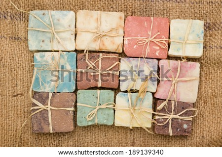 handmade soaps  - stock photo