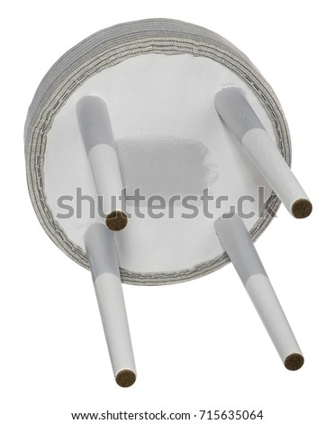 Handmade stool. Hand painted wooden gray and white. Round seat covered with gray  sc 1 st  Shutterstock & Round Stool Stock Images Royalty-Free Images u0026 Vectors | Shutterstock islam-shia.org